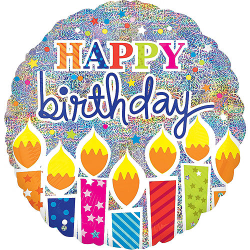 Foil Prismatic Happy Birthday Balloon, 32in Image #1