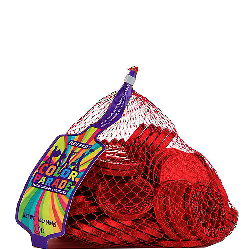 Red Chocolate Coins 72pc Image #1