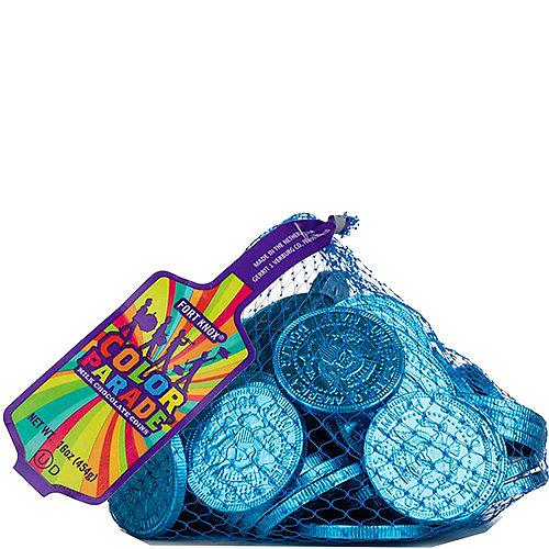 Caribbean Blue Chocolate Coins 72pc Image #1