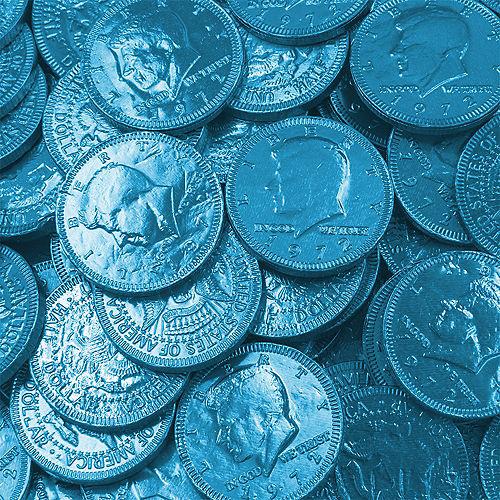 Caribbean Blue Chocolate Coins 72pc Image #2