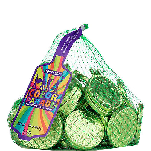 Kiwi Green Chocolate Coins 72pc Image #1
