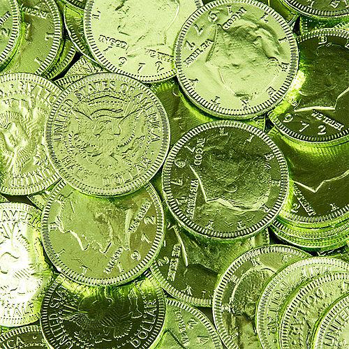 Kiwi Green Chocolate Coins 72pc Image #2