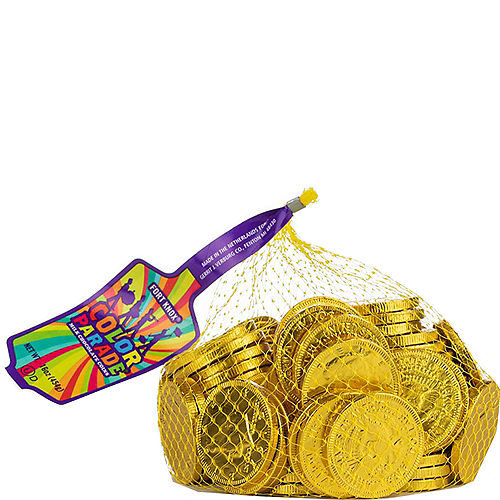 Yellow Chocolate Coins 72pc Image #1