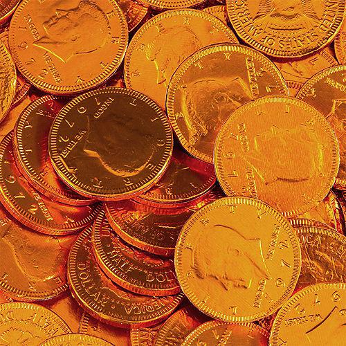 Orange Chocolate Coins 72pc Image #2