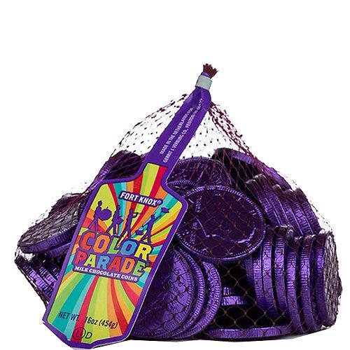 Purple Chocolate Coins 72pc Image #1