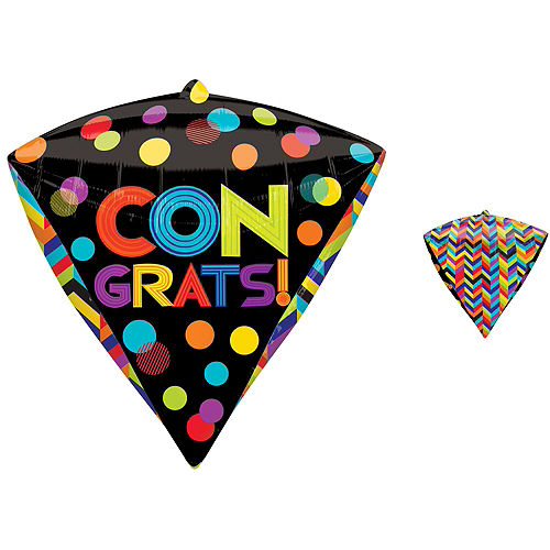 Diamondz Bright Dot Congratulations Balloon Image #1