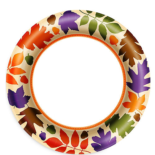 Autumn Warmth Lunch Plates 40ct Image #1