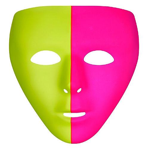 Black Light Neon Pink & Green Face Mask Image #1