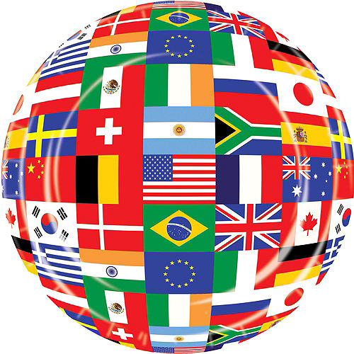 International Flag Party Supplies Deluxe Party Kit for 32 Guest Image #3