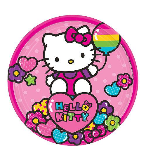 Rainbow Hello Kitty Dessert Plates 8ct Image #1