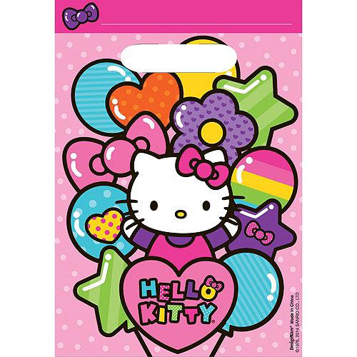 Rainbow Hello Kitty Favor Bags 8ct Image #1
