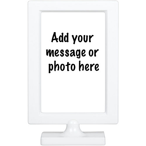 White Table Sign Image #1