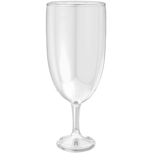 Giant CLEAR Plastic Wine Glass Image #1
