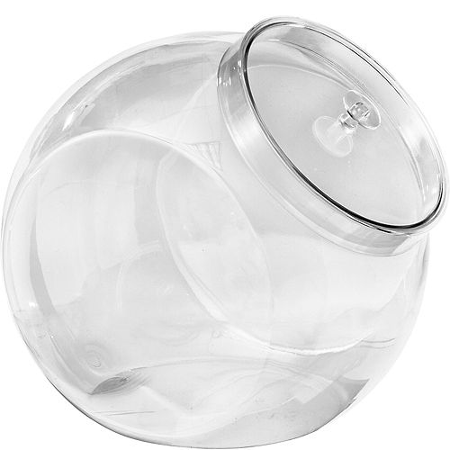 CLEAR Plastic Candy Jar Image #1