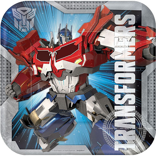 Transformers Lunch Plates 8ct Image #1
