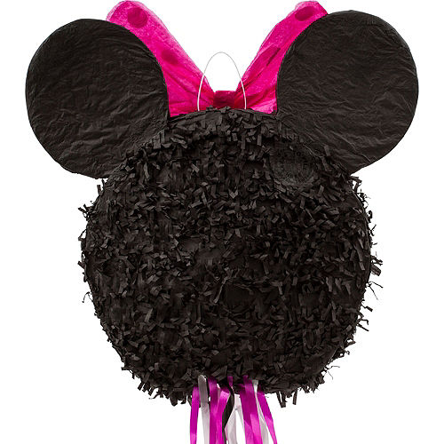 Pull String Smiling Minnie Mouse Pinata Image #2