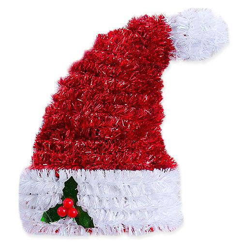 3D Tinsel Santa Hat Image #1