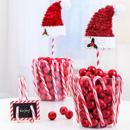 3D Tinsel Santa Hat Image #2