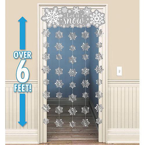 Glitter Snowflake Doorway Curtain Image #1