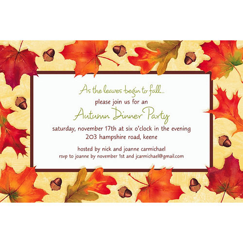 Custom Autumn Day Invitations Image #1