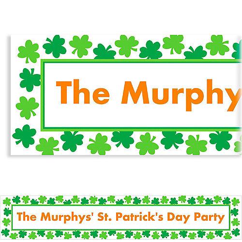 Custom Shamrock Shimmer St. Patrick's Day Banner 6ft Image #1