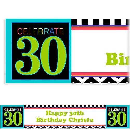Custom 30th Celebration Banner 6ft Image #1