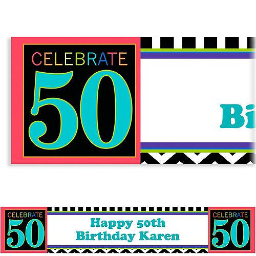 Custom 50th Celebration Banner 6ft Image #1