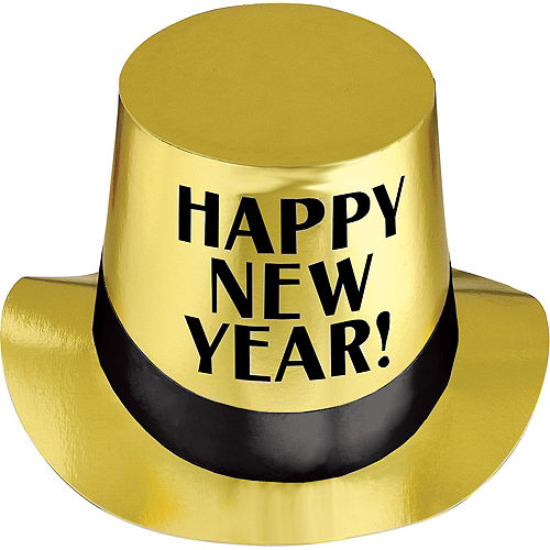 Gold New Year's Top Hat Image #1