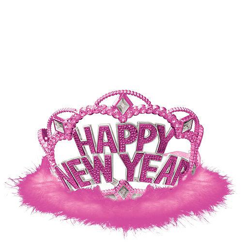 Pink Marabou New Year's Tiara Image #1