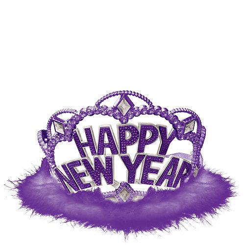 Purple Marabou New Year's Tiara Image #1