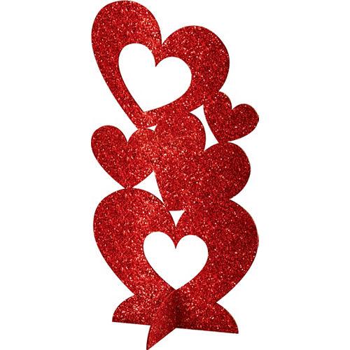 3D Glitter Heart Centerpiece Image #1
