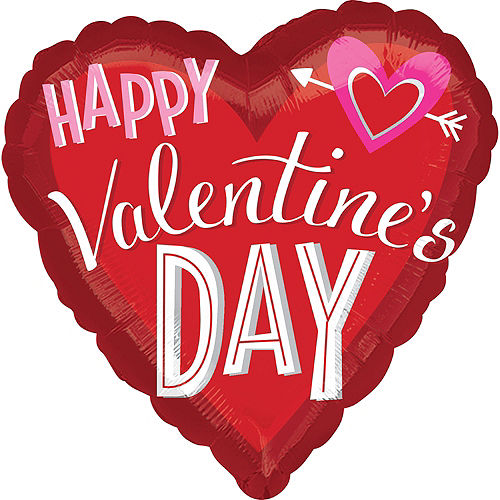 Valentine's Day Balloon - Heart with Arrow, 28in Image #1