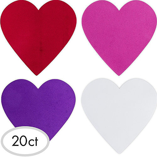 Large Foam Hearts 20ct Image #1