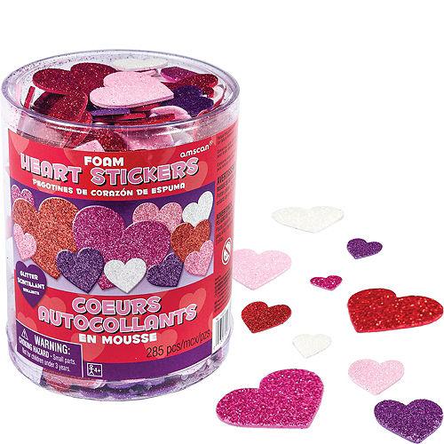 Glitter Foam Heart Stickers 285ct Image #1