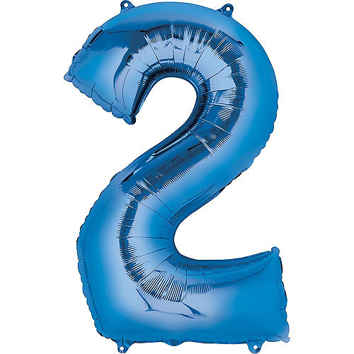 34in Blue Number Balloon (2) Image #1