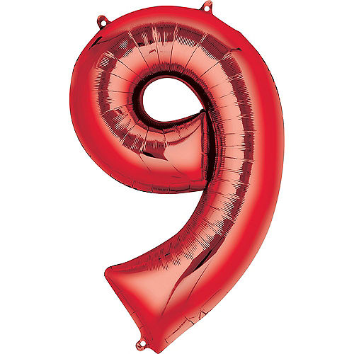 34in Red Number Balloon (9) Image #1