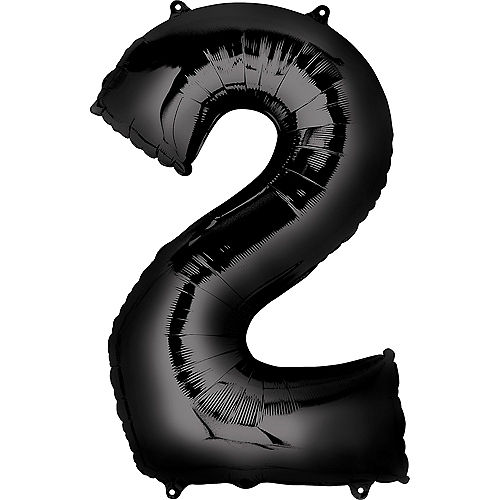 34in Black Number Balloon (2) Image #1