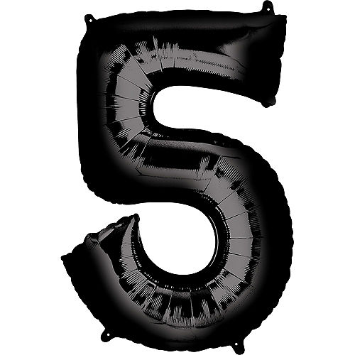 34in Black Number Balloon (5) Image #1