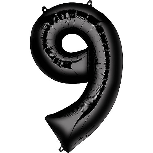 34in Black Number Balloon (9) Image #1