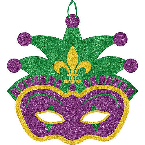 Glitter Jester Mardi Gras Sign Image #1