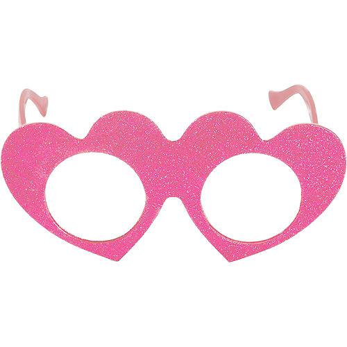 Pink Valentine's Day Glitter Glasses Image #1