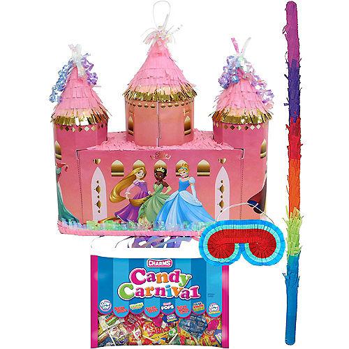 Pull String Disney Princess Castle Pinata Kit Image #1