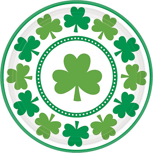 Lucky Shamrock Lunch Plates 8ct Image #1