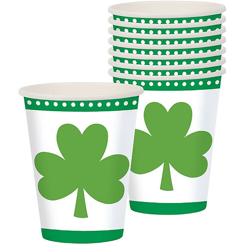 Lucky Shamrock Cups 8ct Image #1