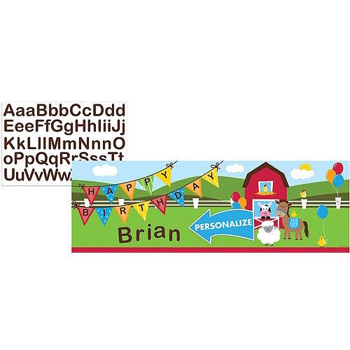 Farmhouse Fun Personalized Birthday Banner Image #1