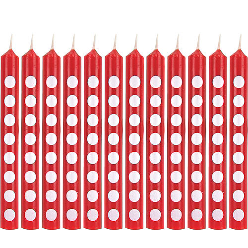 Red Dot Birthday Candle Image #1