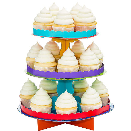 Primary Colors Cupcake Stand Image #1