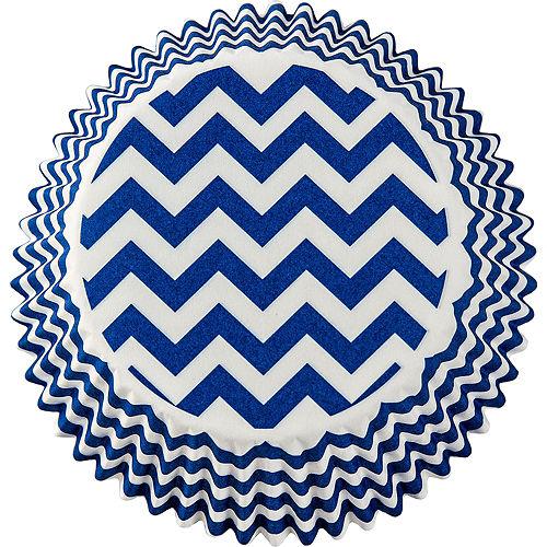 Royal Blue Chevron Baking Cups 75ct Image #2