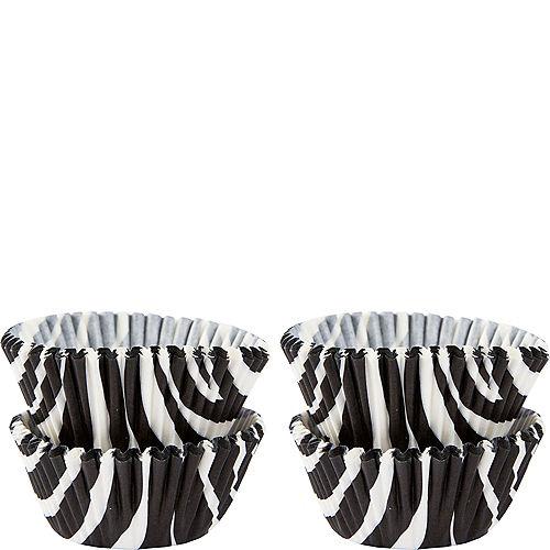 Mini Zebra Print Baking Cups 100ct Image #1