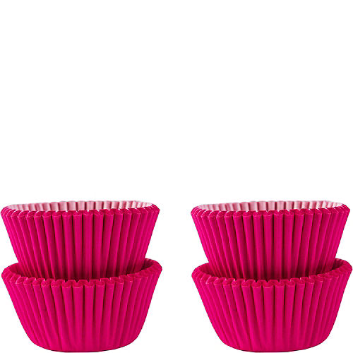 Mini Bright Pink Baking Cups 100ct Image #1